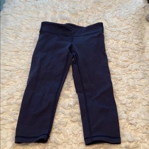 Navy cropped ivivva leggings